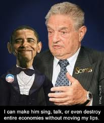 George Soros + Obama puppet