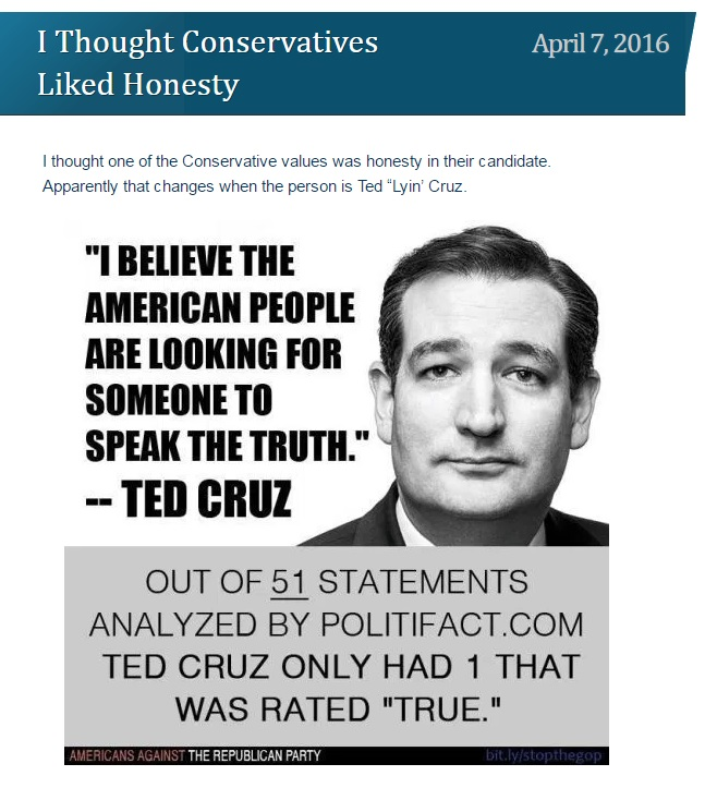 Cruz lied once from Peppermint