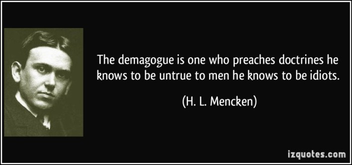 Demagogues quote
