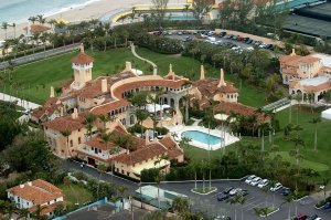 UNITED STATES - JANUARY 20: Aerial view of Mar-a-Lago, the estate of Donald Trump, in Palm Beach, Fla. (Photo by John Roca/NY Daily News Archive via Getty Images)