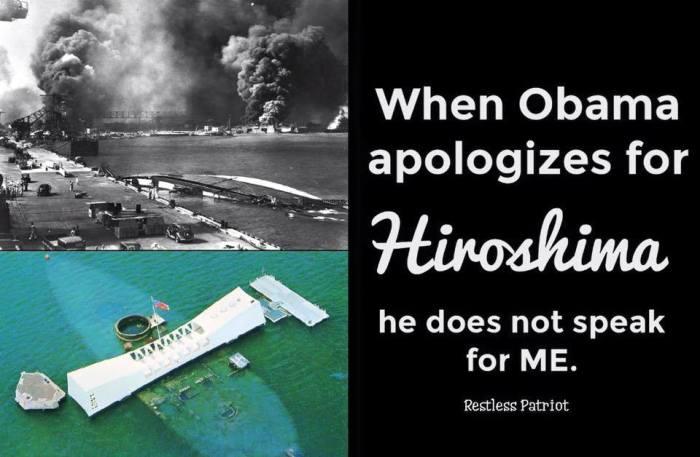O apologizes hiroshima