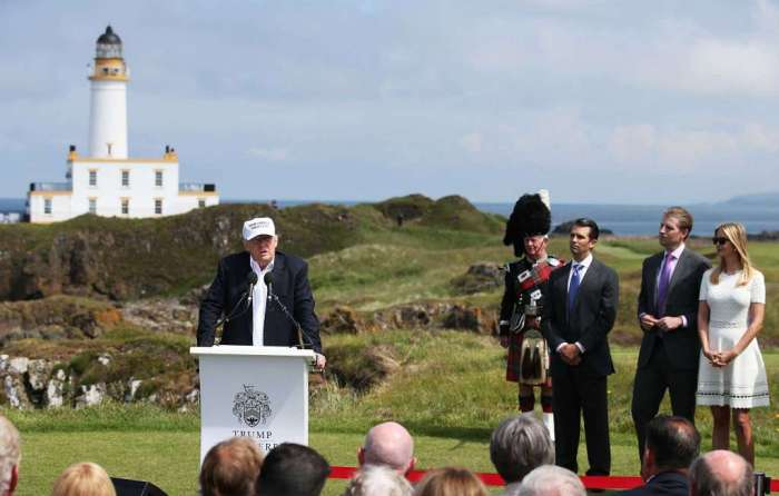 Trump in Scotland June 2016
