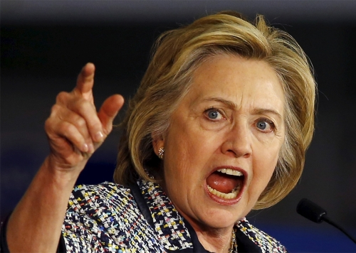 Hillary angry