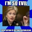Satan is voting Republican
