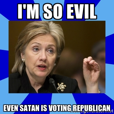 Satan is voting Republican