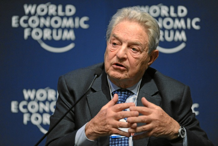 DAVOS/SWITZERLAND, 27JAN11 - George Soros, Chairman, Soros Fund Management, USA, is captured during the session 'Redesigning the International Monetary System: A Davos Debate' at the Annual Meeting 2011 of the World Economic Forum in Davos, Switzerland, January 27, 2011. Copyright by World Economic Forum swiss-image.ch/Photo by Michael Wuertenberg