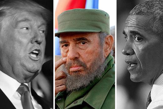 trump-obama-castro
